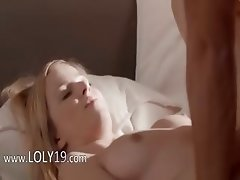 Unbelievable blonde fucked on the sofa