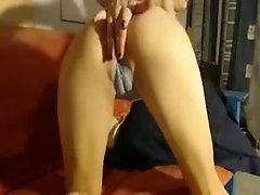 Big Long Dildo Masturbation