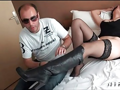 French wife with nice tits offered and fucked by a john doe