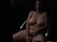 Sex Shop Glory Hole With Slutty Milf