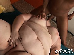 Lad fucks his sexy fat gorgeous gf