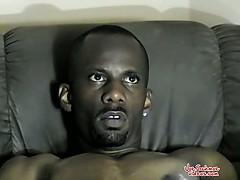 Jacking His Big Black Dick