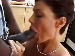 french mature taking a bbc in her ass