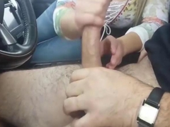 Big tits stranger drains my bulging dick