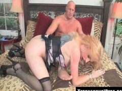 TS Juliette Stray gets her dick sucked