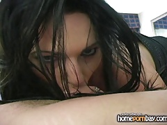 Blowjob from sexy amateur brunette in hot amateur porn 3