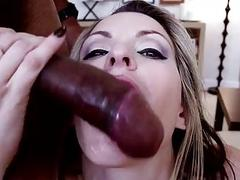 Fabulous Interracial Cum Swallowing