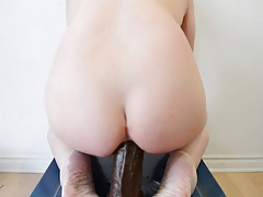 Anal Pounding with the BAM Dildo