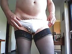 Nylin slip on nylon panty....horny....