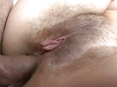 Hairy german girl screaming while assfucked