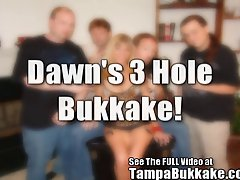 Cougar Dawn'sThree Hole Tampa Bukkake Gang Bang Party!
