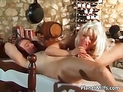 Platinum blonde milf got banged hardly part5